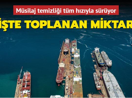 Çevre ve Şehircilik Bakanı Kurum: Marmara Denizi'nden 7 günde 2 bin 684 metreküp müsilaj temizlendi